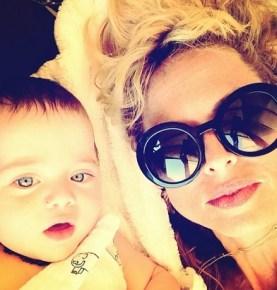 Rachel Zoe with her son Kaius