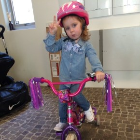 Roxy Jacenko's daughter Pixie, 2, on her trike