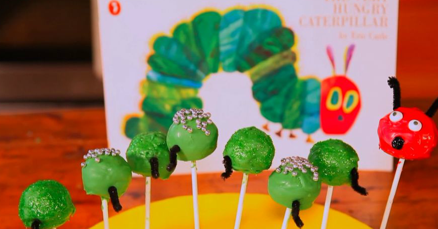 Masterchef's Dani Venn makes Hungry Catepillar cake pops