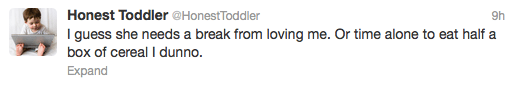 If a toddler could tweet …
