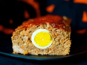 Unblinking Eye Halloween Meatloaf