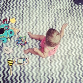 Tammin Sursok's 10-month old daughter Phoenix during play time