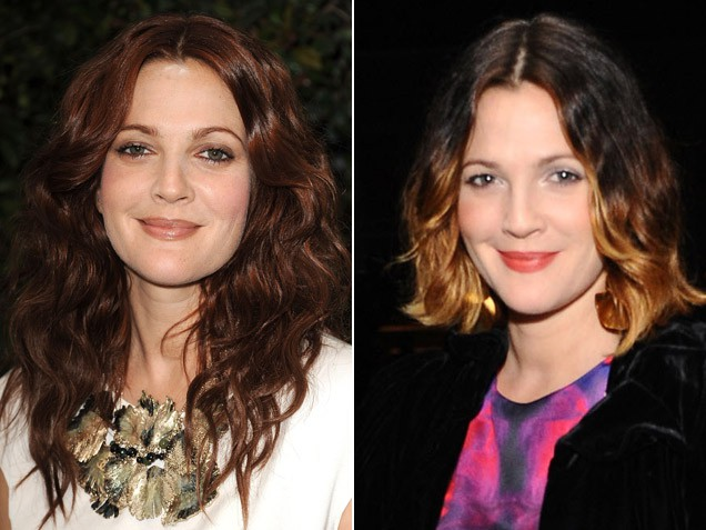 Drew Barrymore: Chocoalte brown to Balayage.