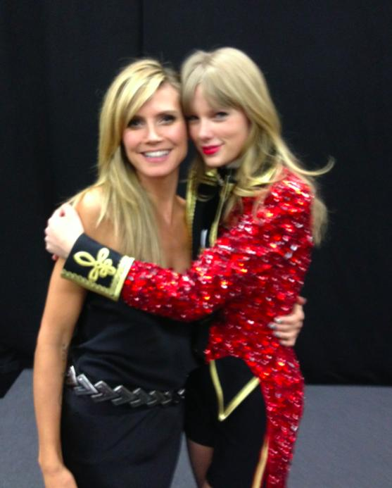 celeb twitter pics Heidi Klum and Taylor Swift