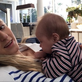 Roxy Jacenko at home with her son Hunter