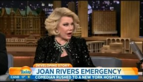 Breaking: Joan Rivers in a critical condition.