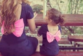 Matching mum and daughter outfits. Cute or cheesy?