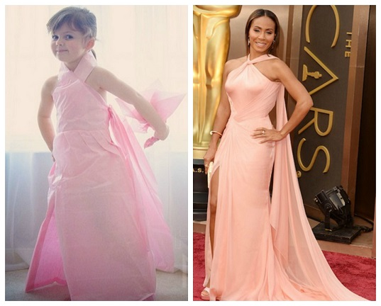 Our favourite four-year-old fashion designer takes on the Oscars