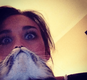 First there was planking, then baby mugging, and now: cat beards