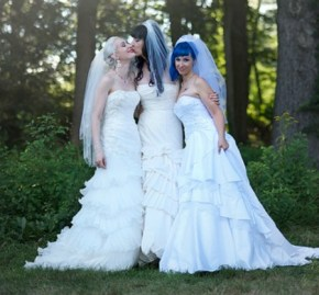 Three brides get their dream wedding … to each other