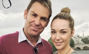 Shane Warne has finally decided to stick to one girlfriend.