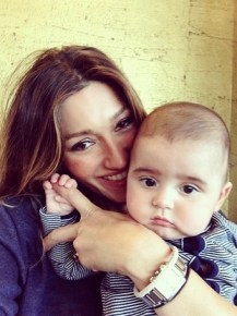 Silvana Lovin, Mark Philippoussis' wife with their son Nicholas