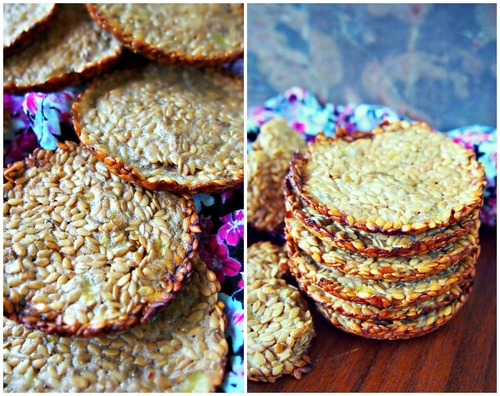 Ripe Banana + Flax Seeds = Banana Flax Seed Crackers
