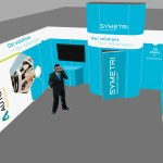 Visualisering messestand sSymetri