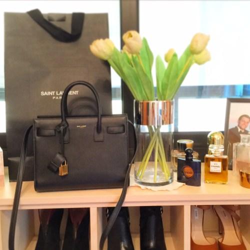 saint laurent nano bag black sac de jour ivy says