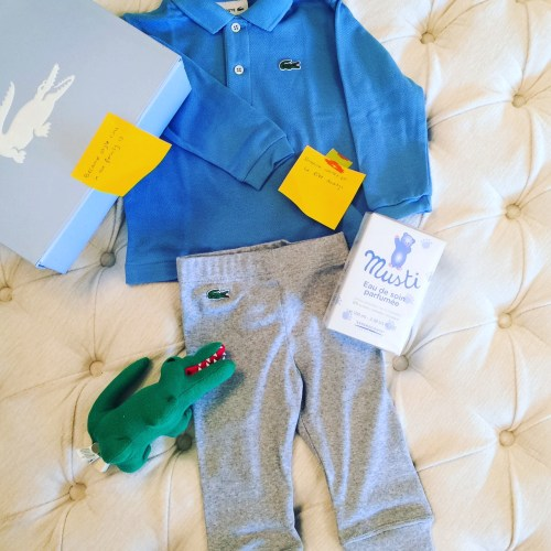 Lacoste Baby Set polo and plush