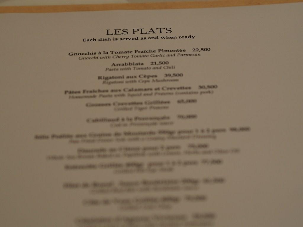 La Petite Maison Beirut Review menu review
