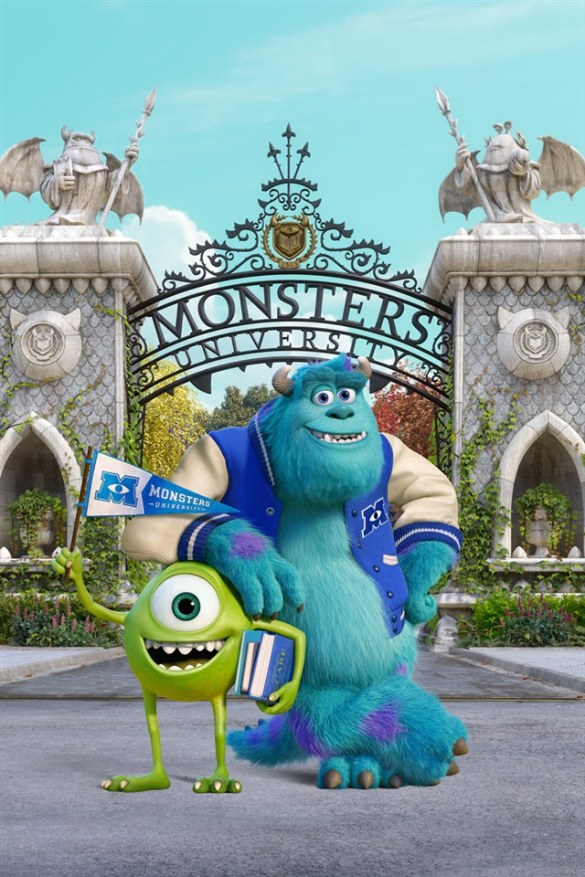 Wallpaper Monster Inc 3d Monsters University Iphone X 8 7 6 5 4 3gs Wallpaper