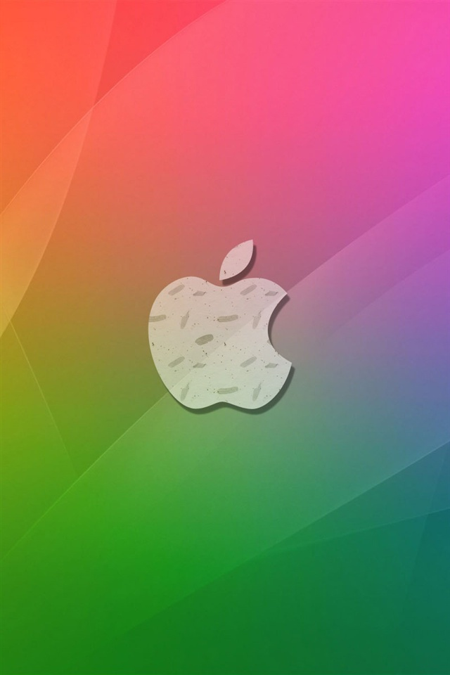 Wallpaper Iphone 5 Cute Purple Apple Red Green Background Iphone X 8 7 6 5 4 3gs
