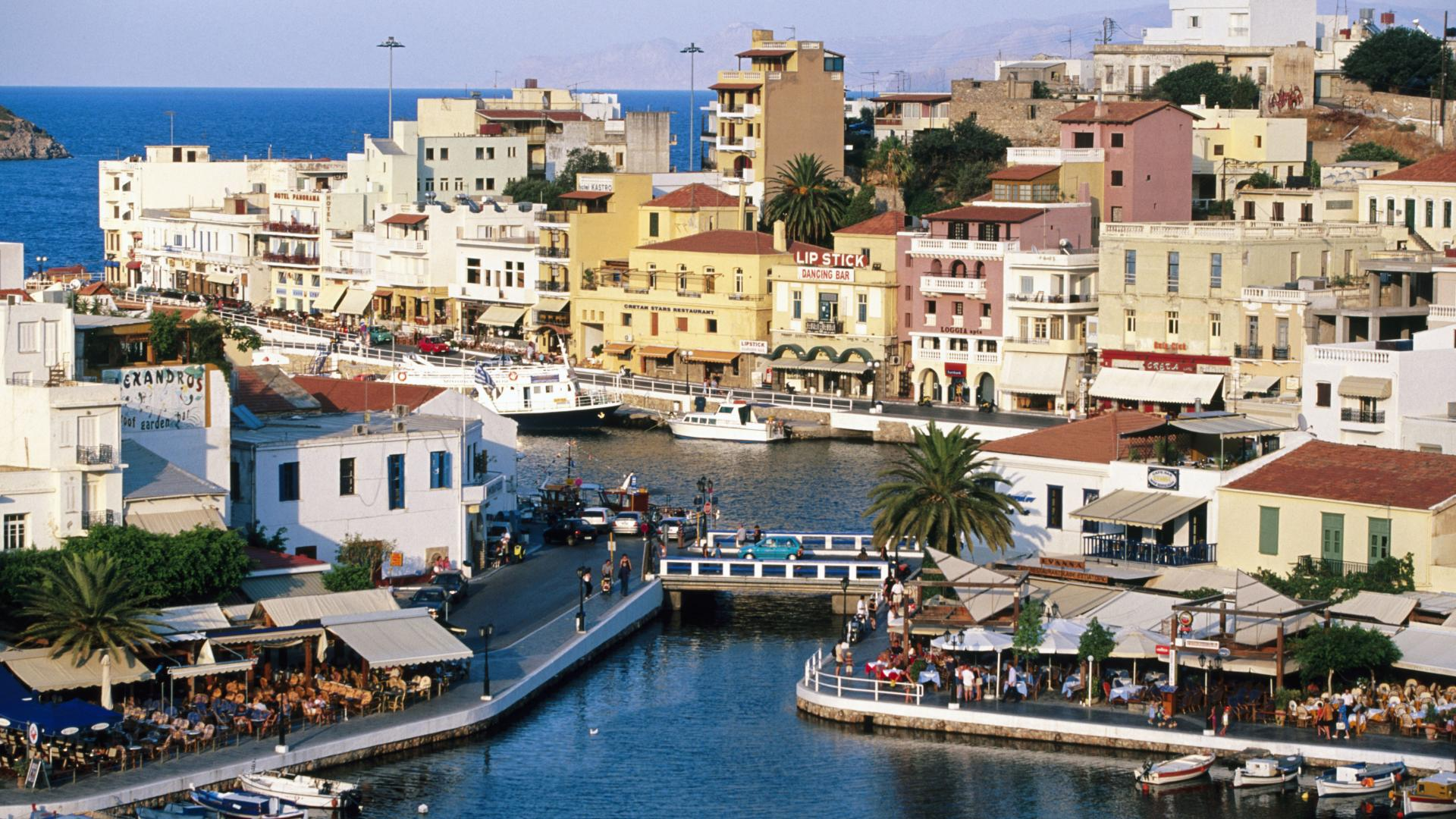 Ios 6 Wallpaper Hd Agios Nikolaos Crete Greece 10 000 Fonds D 233 Cran Hd