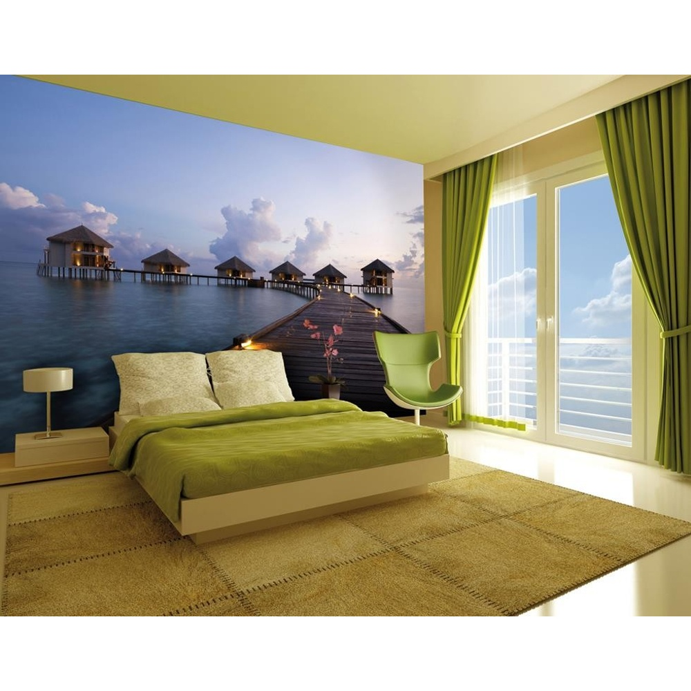 1 Wall Paradise Beach Huts Photo Giant Poster 3 15 X 2 32m - Poster Chantemur