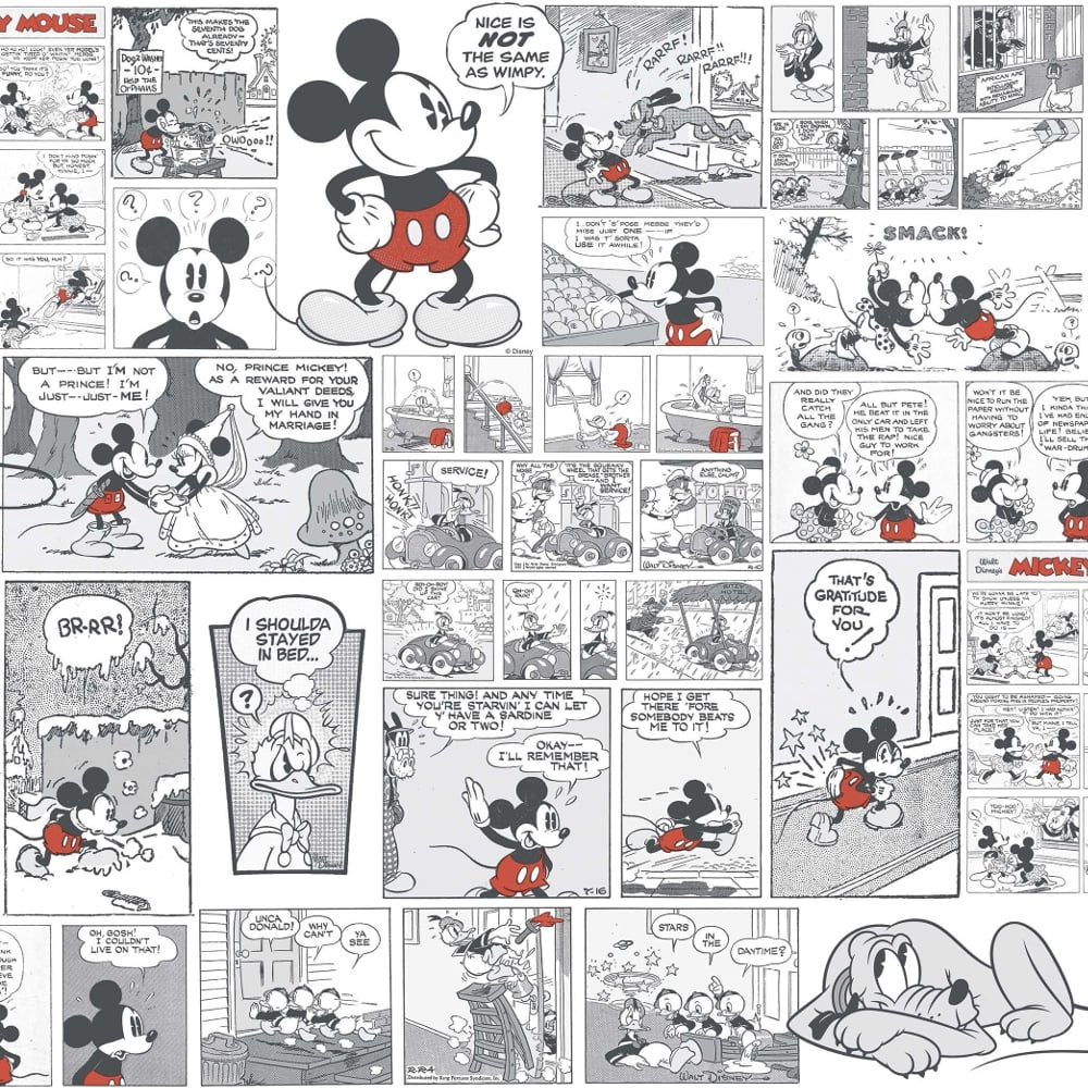 Tapete Comic Galerie Official Disney Mickey Minnie Donald Duck Comic Cartoon Childrens Wallpaper Dy3011 3