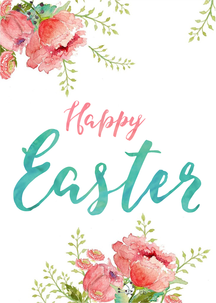 Happy Easter and Hello Spring Printables - I Watch Them Grow