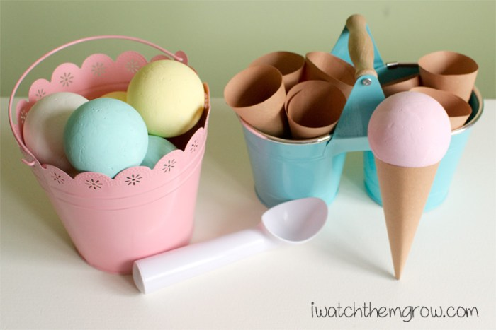 ice cream craft and play