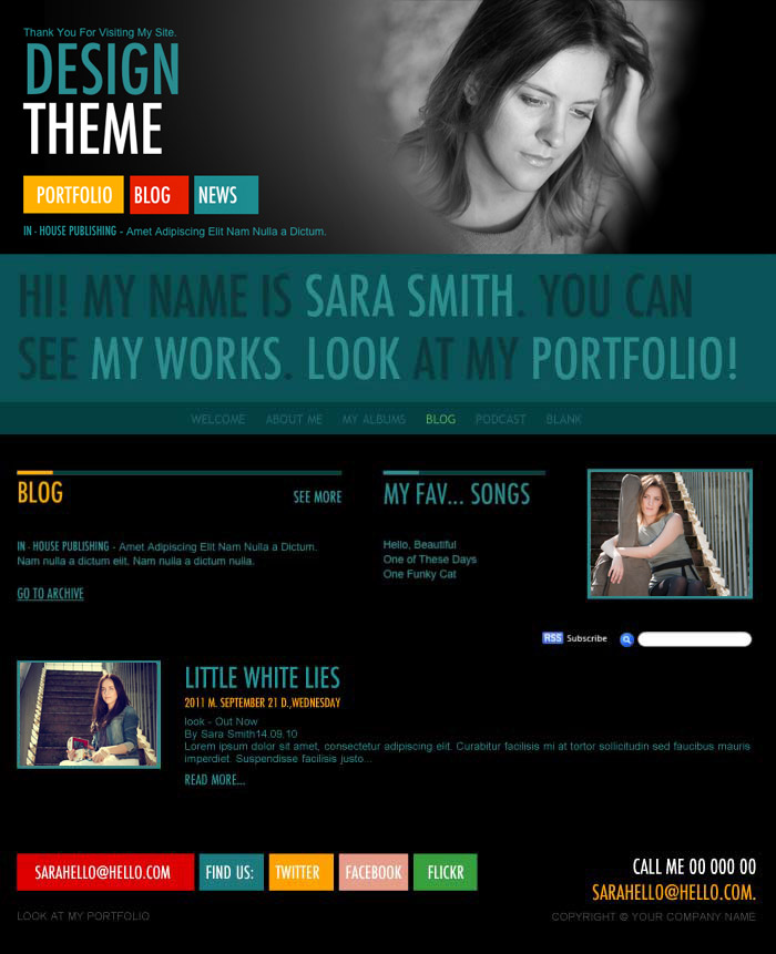 iWeb Design in iWeb Fashion Category - podcast website template