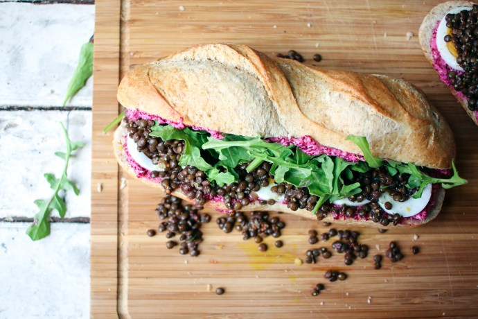 Lentil Sandwich with Pickled Beet Butter | I Will Not Eat Oysters