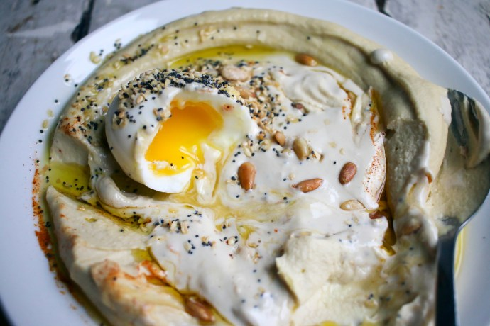 Hummus & Tahina with Soft Boiled Egg and Everything Bagel Spice | I Will Not Eat Oysters