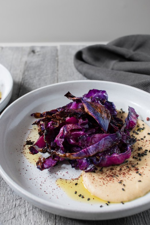 Homemade Hummus with Roasted Red Cabbage | I Will Not Eat Oysters