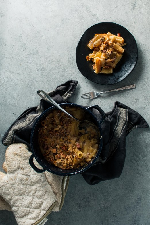 Walnut Brie Mac & Cheese with Apples & Pancetta | I Will Not Eat Oysters from Molly on the Range