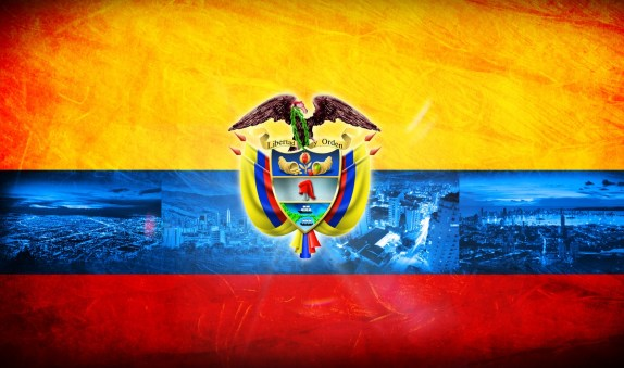 Colombian Flag and Coat of Arms