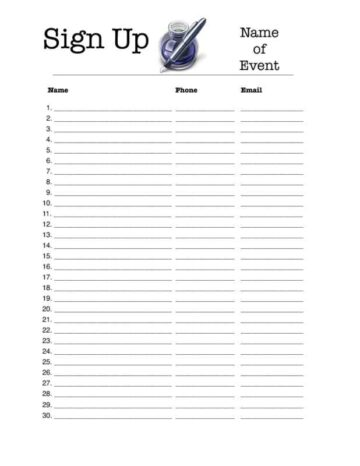 name sign in sheet - Manqalhellenes - committee sign up sheet template