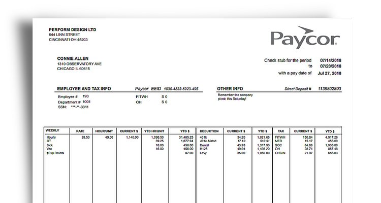 Pay Stub Example, See What\u0027s Included Paycor
