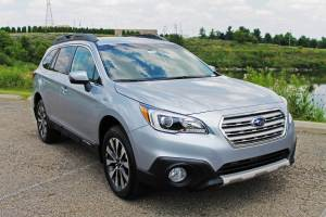 The popular 2015 Subaru Outback is one of many cars you can test drive at the 2015 Cleveland Auto Show.