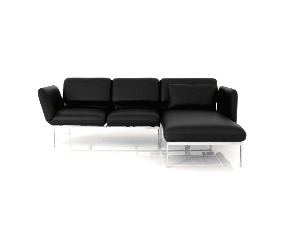 Sessel Leder Outlet Brühl Roro Small Sofa Mit Recamiere In Leder Basic Schwarz