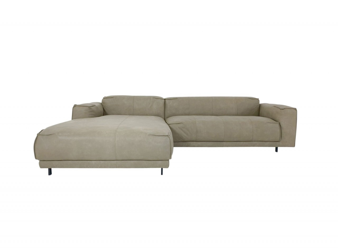 Freistil 136 Rolf Benz Sofa Mit Recamiere Links In Nappa Leder 9221 Gelbgrau Freistil 136 Freistil Rolf Benz Izabela K
