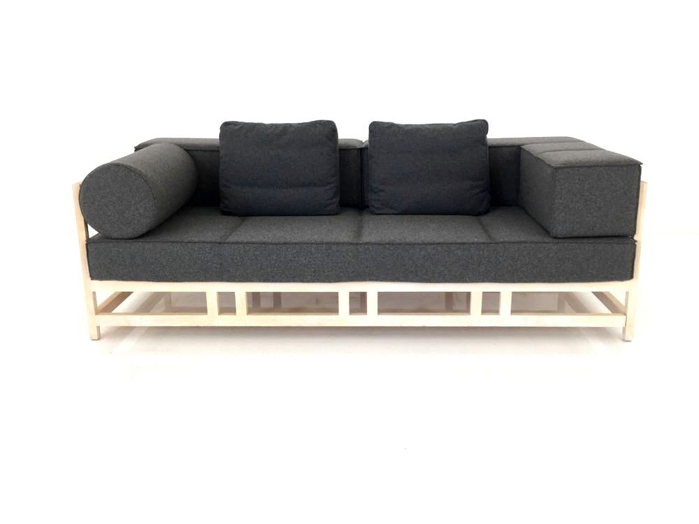 Designer Sessel Outlet Brühl Easy Pieces Sofa In Birke Massiv Mit Dunkelgrauen