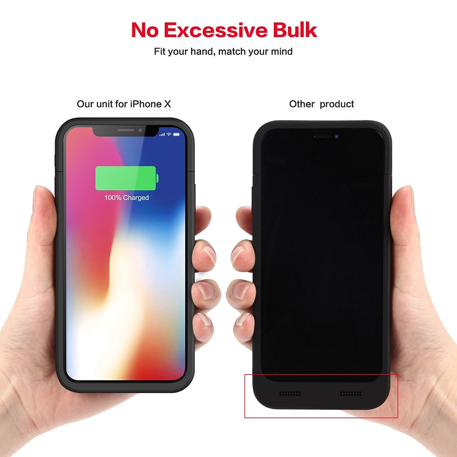 Battery Case For Iphone X Izam Iphone X Xs Battery Case 5200mah Rechargeable Portable Izam Power Charging Case For Iphone X Xs Case Ultra Thin And Light Weight Black