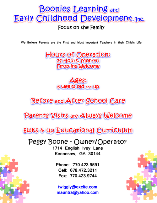 home daycare flyers - Brucebrianwilliams - Daycare Flyer Template
