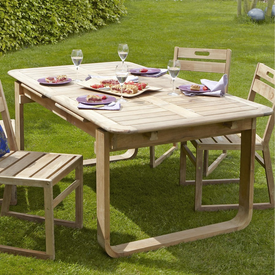 Table Rectangulaire 8 Personnes Table De Jardin Naterial Resort Rectangulaire Naturel 6 8