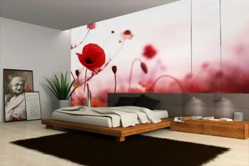 Tableau Moderne Grand Format Poster Mural Coquelicots - Izoa