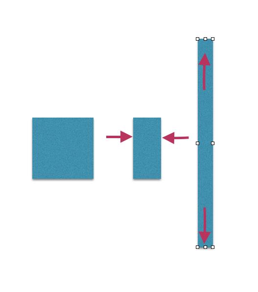 四角い図形を変形