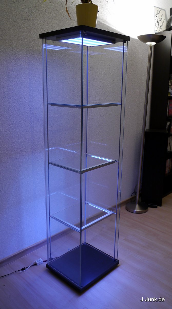 Günstige Vitrinen Ikea Detolf Mit Leds Wireless Ultimate Version J Junk