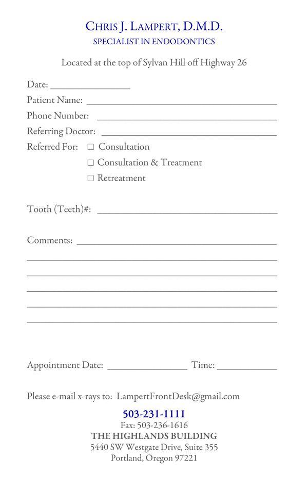 Referral Form - referral form