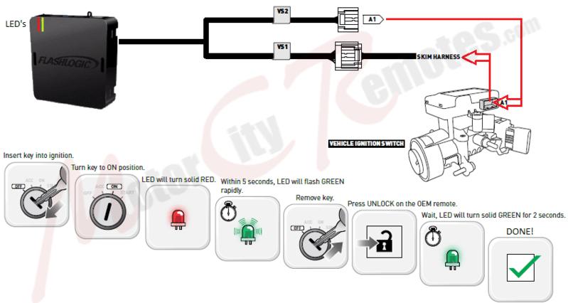remote starter and alarm diagram