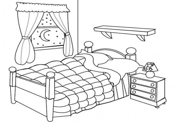 dormitorio Casas y muebles Pinterest Kids colouring, Art - dessin de maison a imprimer