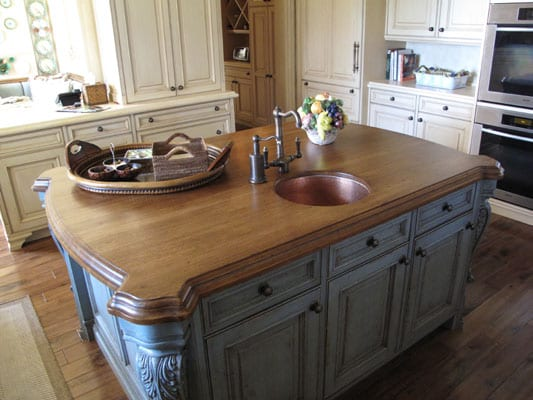 Wood Island Tops Kitchens Finishing A Diy Wood Countertop - J. Aaron